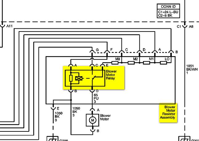 2007 Uplander Cooling Fan Resistor Wiring Diagram on