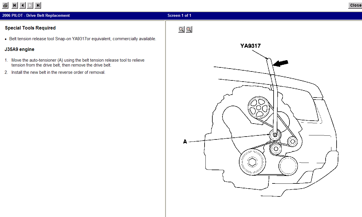 2008 Honda Pilot Serpentine Belt Diagram