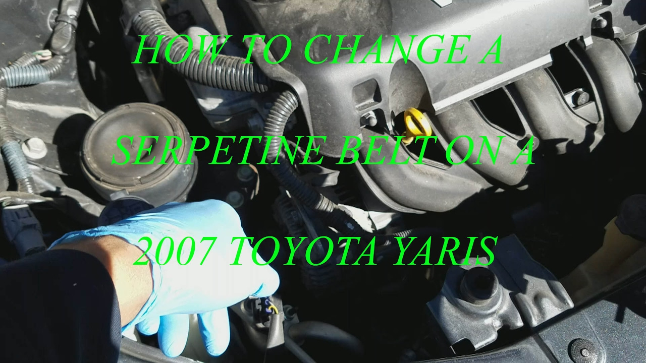 2008 Toyota Yaris Serpentine Belt Diagram