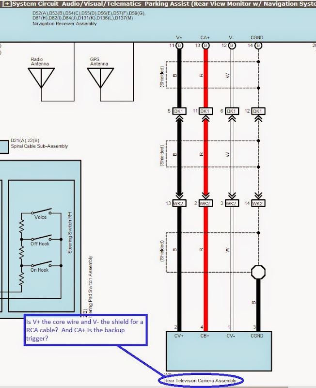 2009 Toyota Tacoma Backup Camera Wiring Diagram