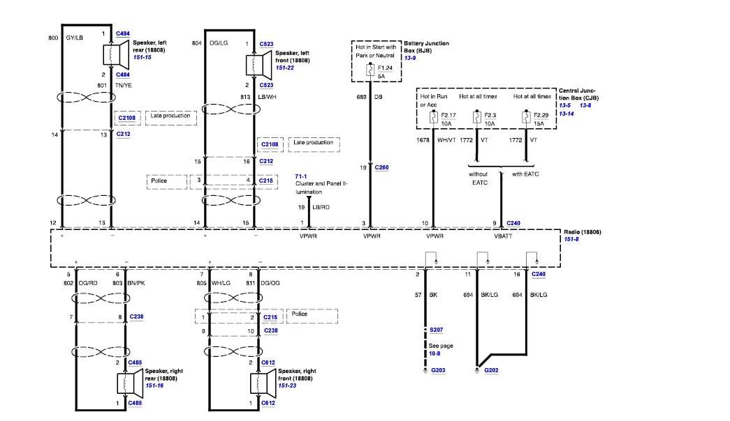 2011 Crown Vic Wiring Diagram Wiring Diagrams List