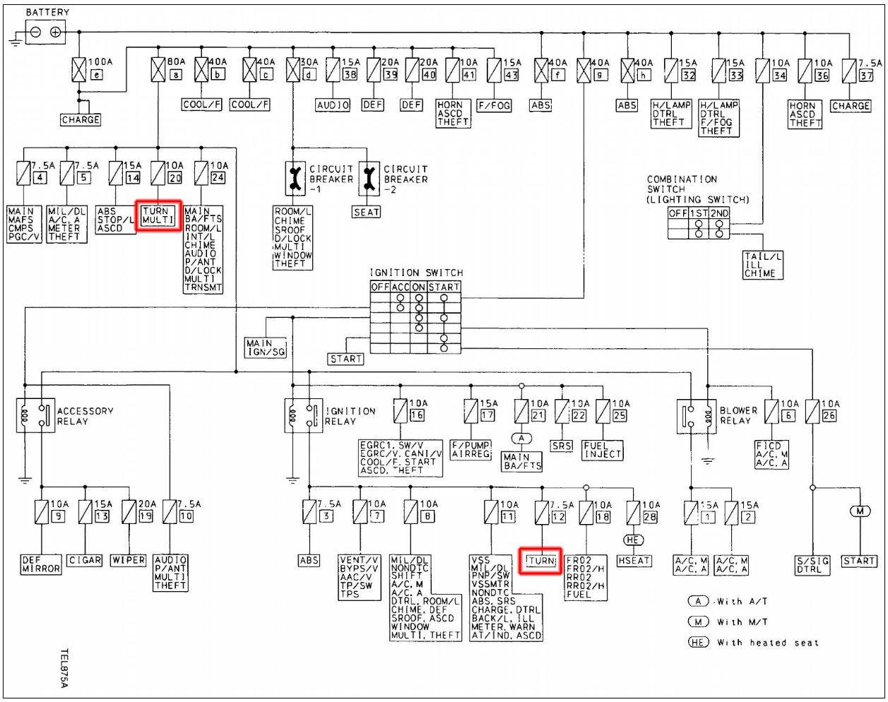 2013 Infiniti G37 Fuse Diagram