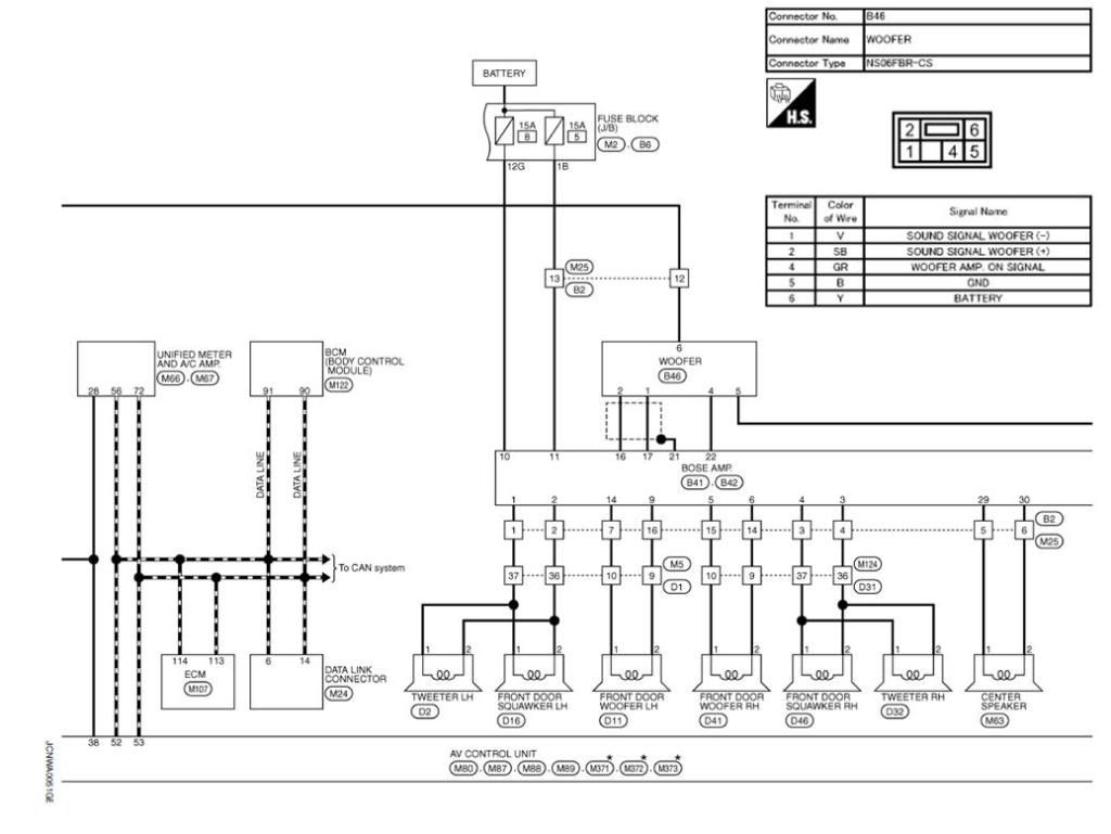 Subwoofer Wiring Diagrams Chart  Speaker Crossovers Circuit