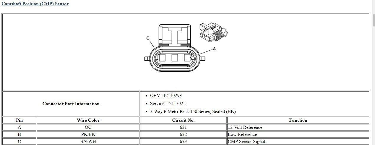 2013 Ls3 Cam Position Sensor Wiring Diagram