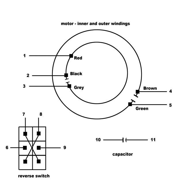 230v 2 Speed Motor 3 Position Dpdt Switch Wiring Diagram
