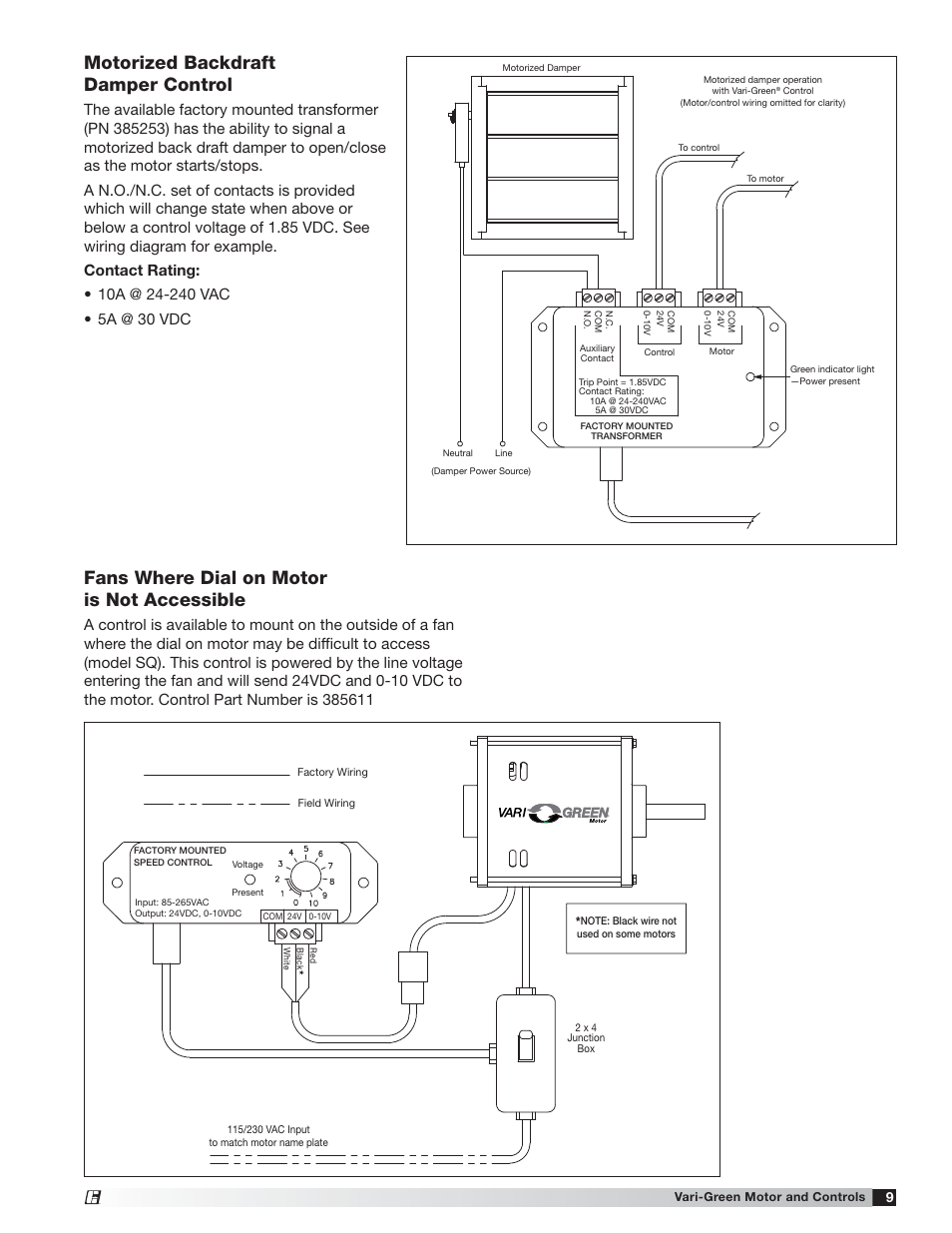 24 Vac Motorized Damper Wiring Diagram