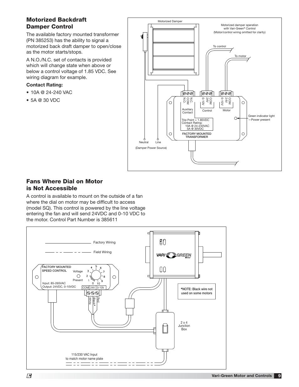24 Vac Motorized Damper Wiring Diagram