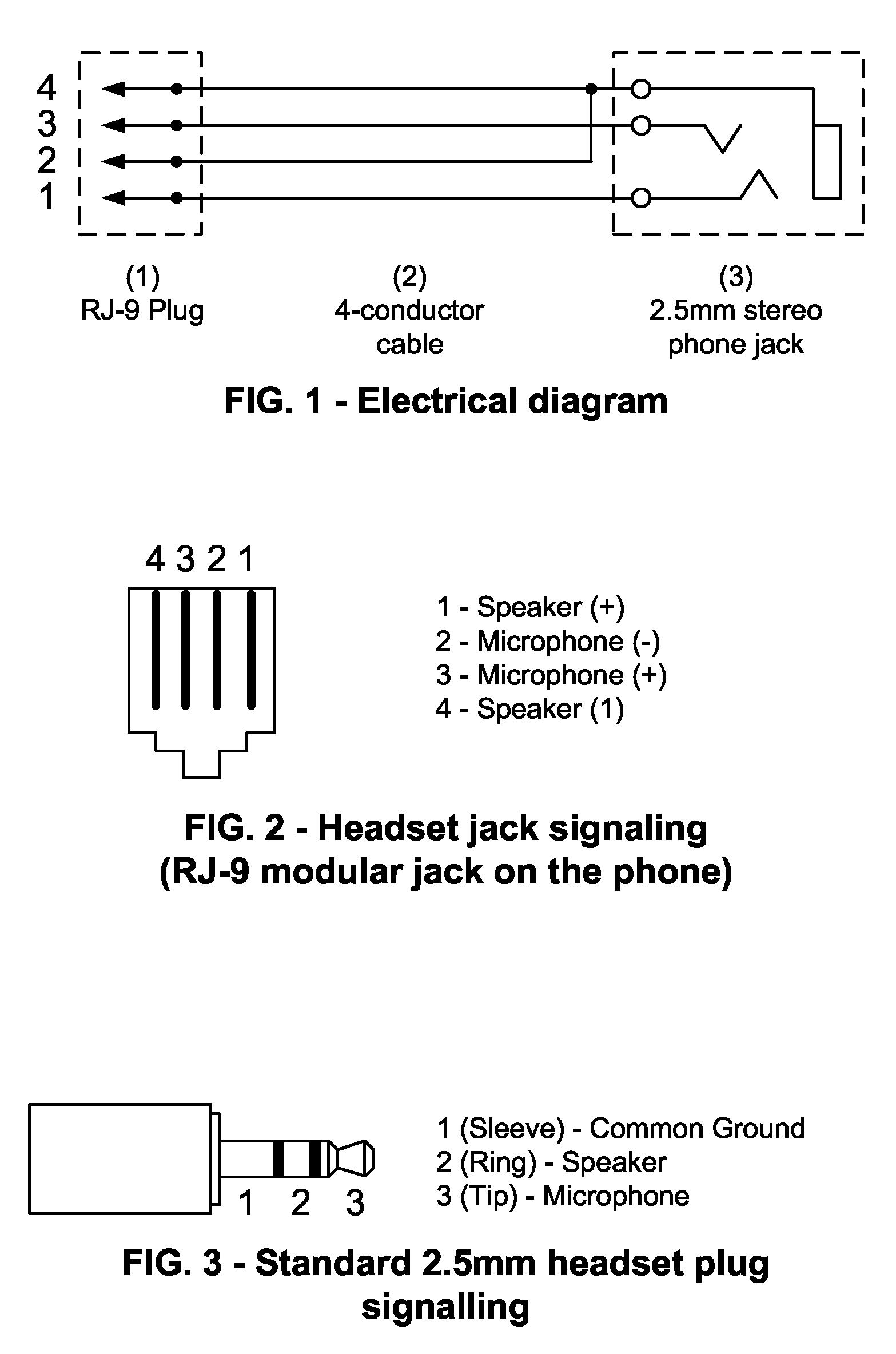 Stereo Phone Plug Diagram - Schematics Online on