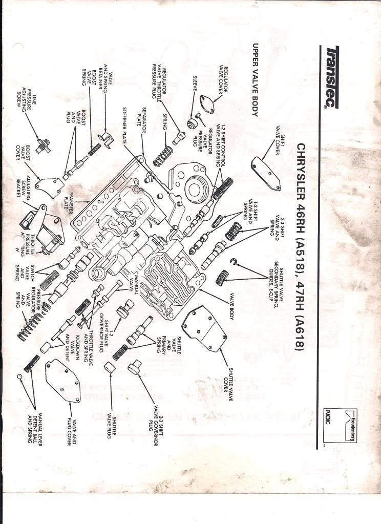 46re Valve Body Diagram