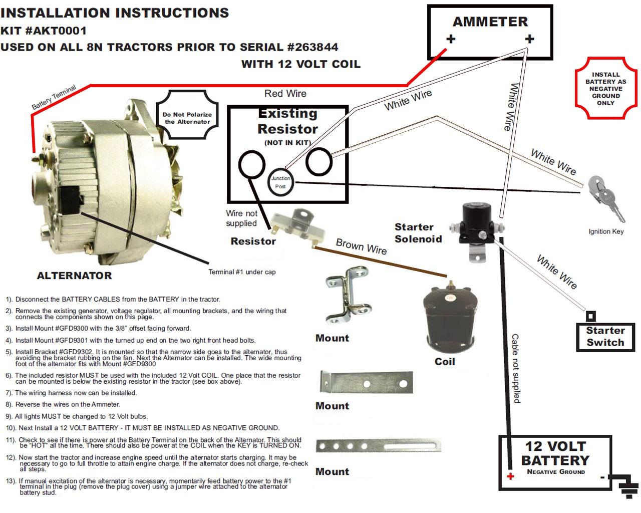 52 Ford 8n 12 Volt Conversion Wiring Diagram