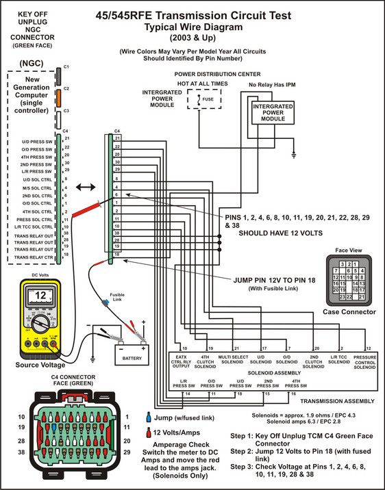 545rfe Neutral Safety Switch Wiring Diagram