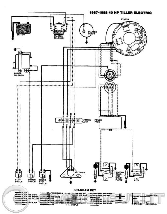 62 Evinrude 40hp Lark 4 Wiring Diagram