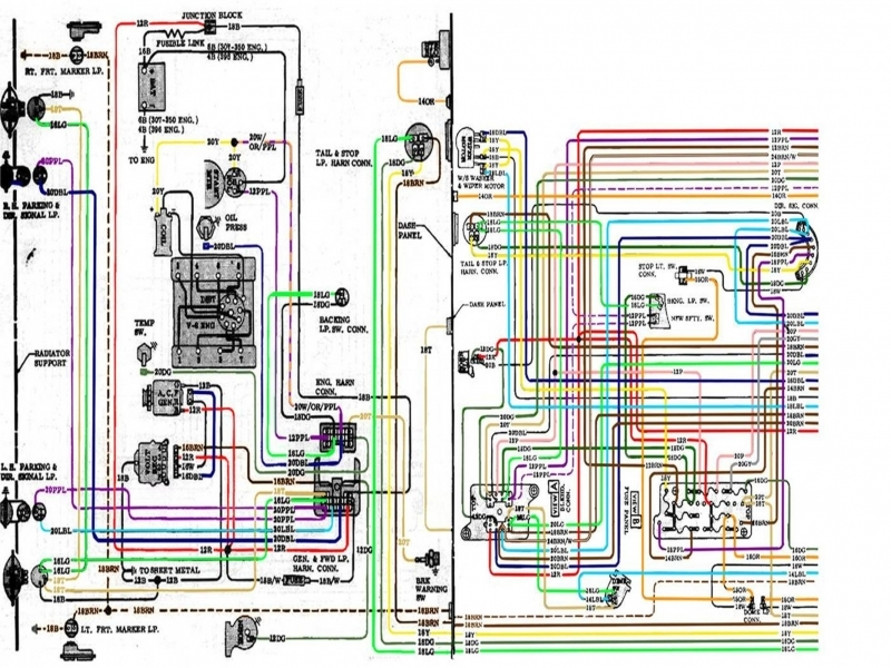 67-72 Chevy Truck Wiring Diagram on