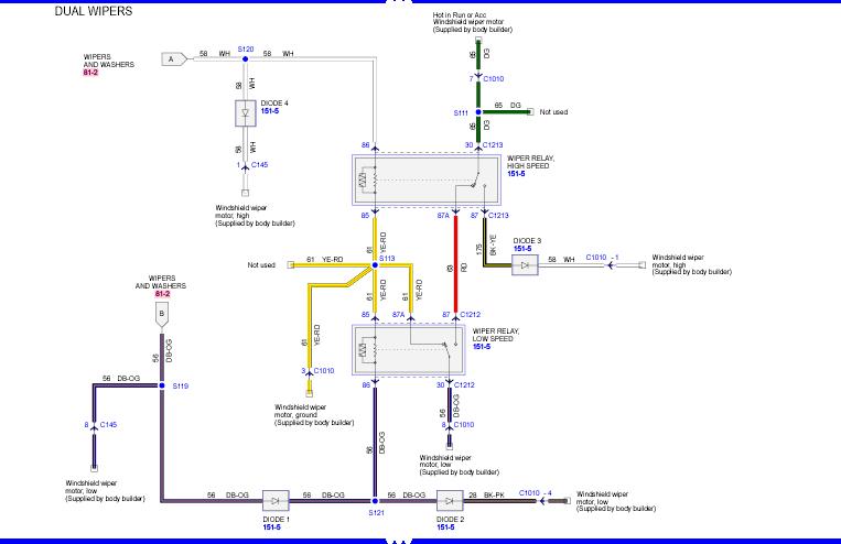 93 F53 Fleetwood Windshield Wiper Wiring Diagram