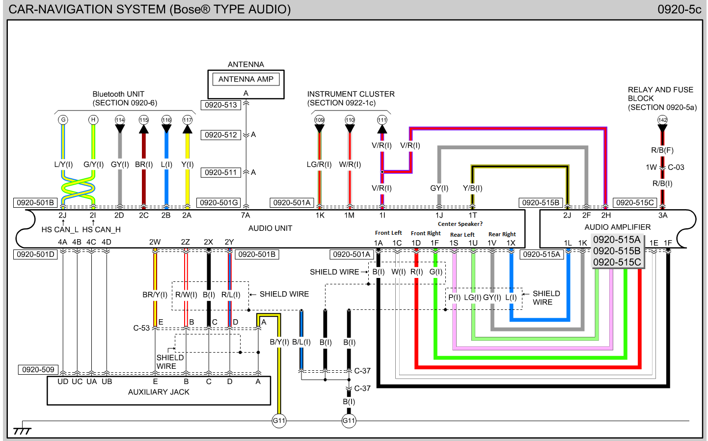 99 Intrigue With Bose Factory Sound Wiring Diagram And Colors