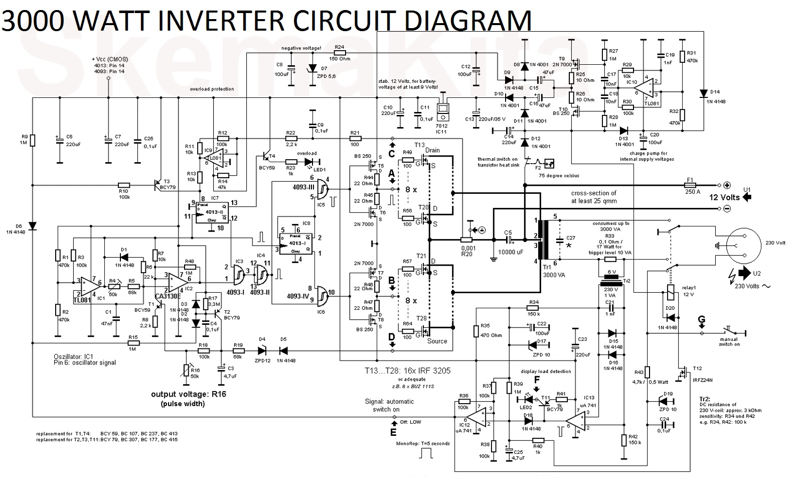 Aims Power 3000 Watt 12v Pure Sine Inverter Charger Wiring Diagram