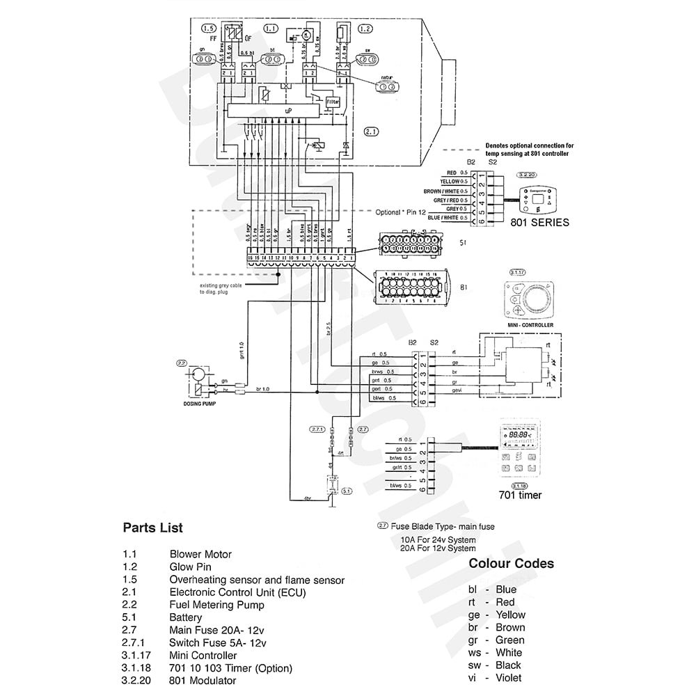 Airtronic D2 Wiring Diagram