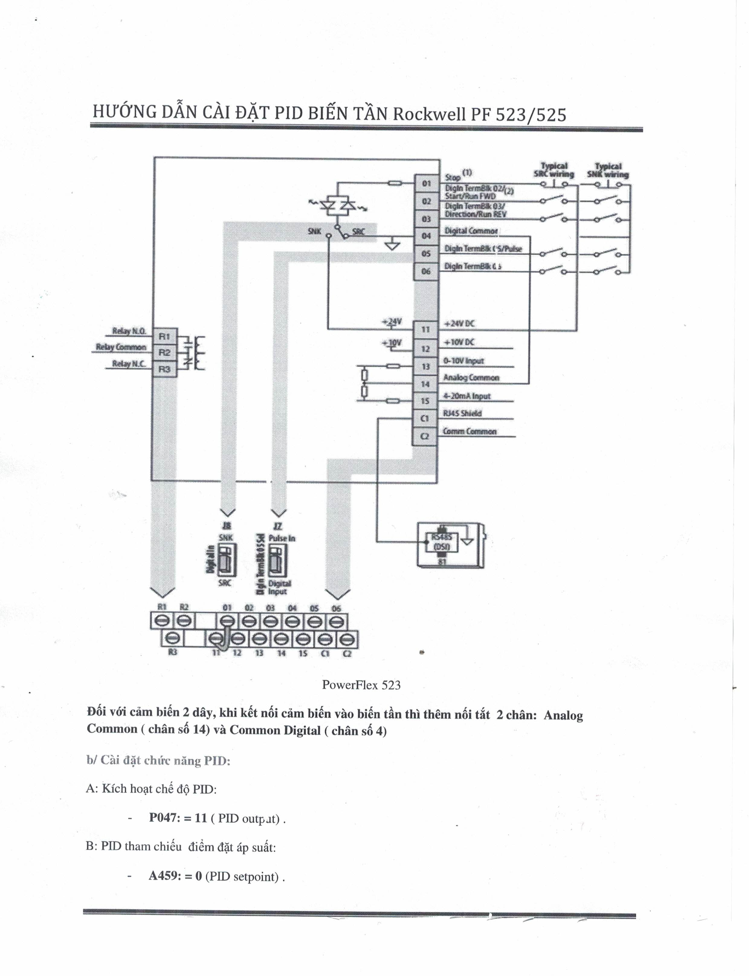 Allen dley Powerflex 400 Wiring Diagram on