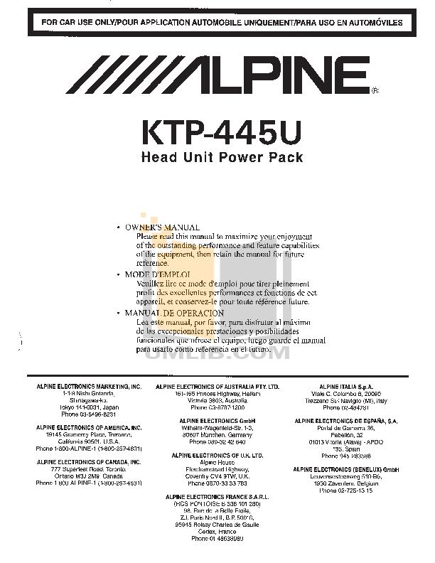 Diagram Alpine Ktp 445 Wiring Diagram Unit Full Version Hd Quality Diagram Unit Hdwiring Tappeti Orientali It
