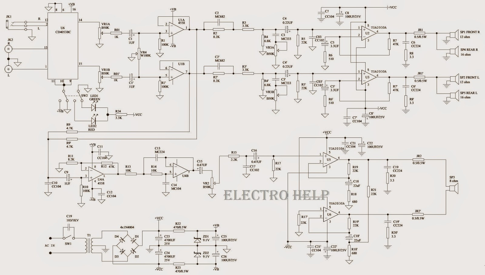 Altec Lansing 251 Wiring Diagram