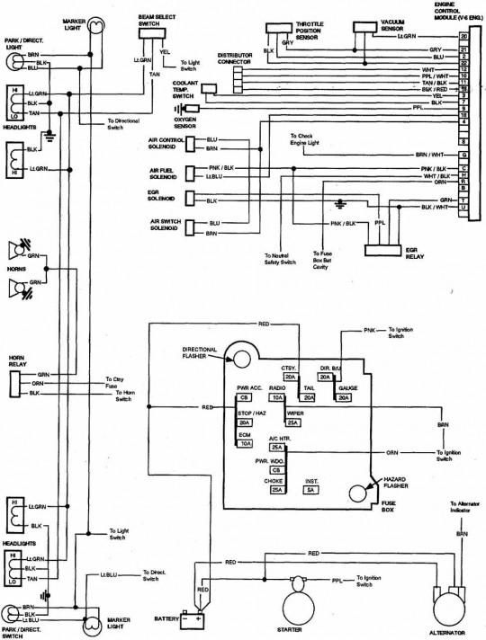Alternator Wiring Diagram For 92 Chevy Blazer 5 7