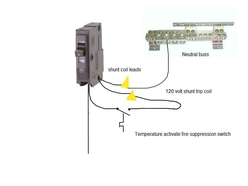 ansul shunt trip wiring diagram