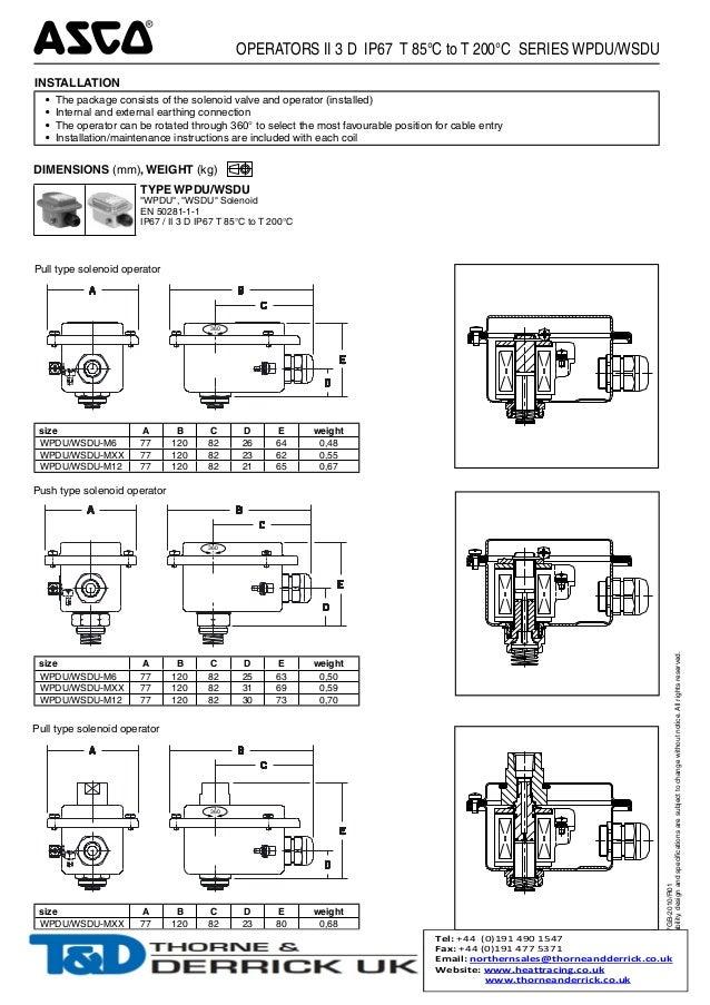 Wiring Diagram Database  Asco Solenoid Valve Wiring Diagram