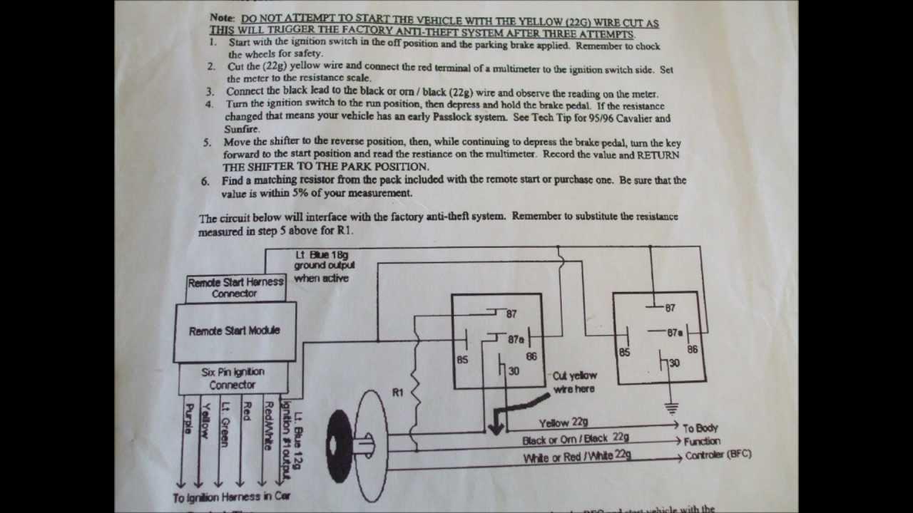 Audiovox Remote Start Wiring Diagram