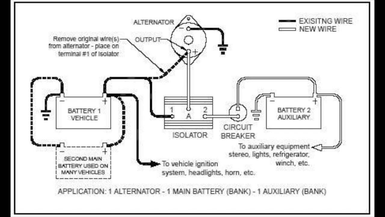 auxiliary battery wiring diagram  fleetwood revolution