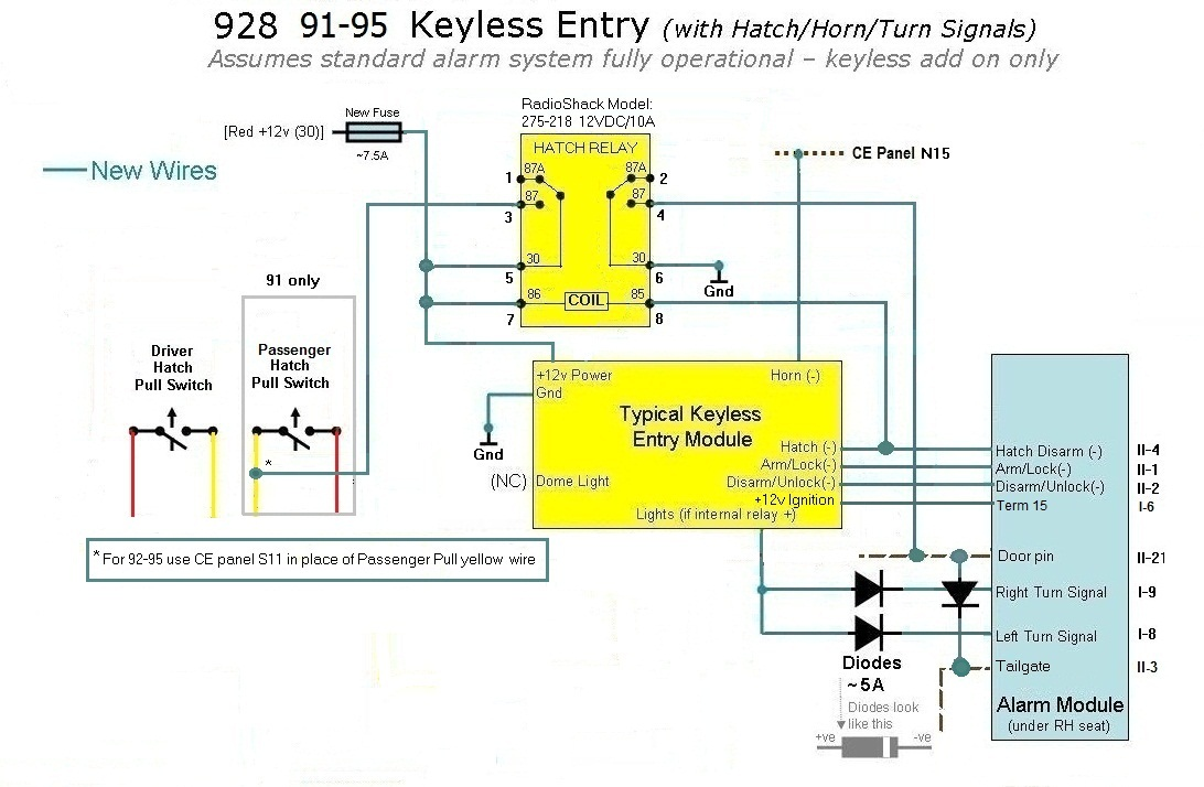 avital-remote-starter-wiring-diagram Vehicle Wiring Diagrams For Installing Remote Starters on