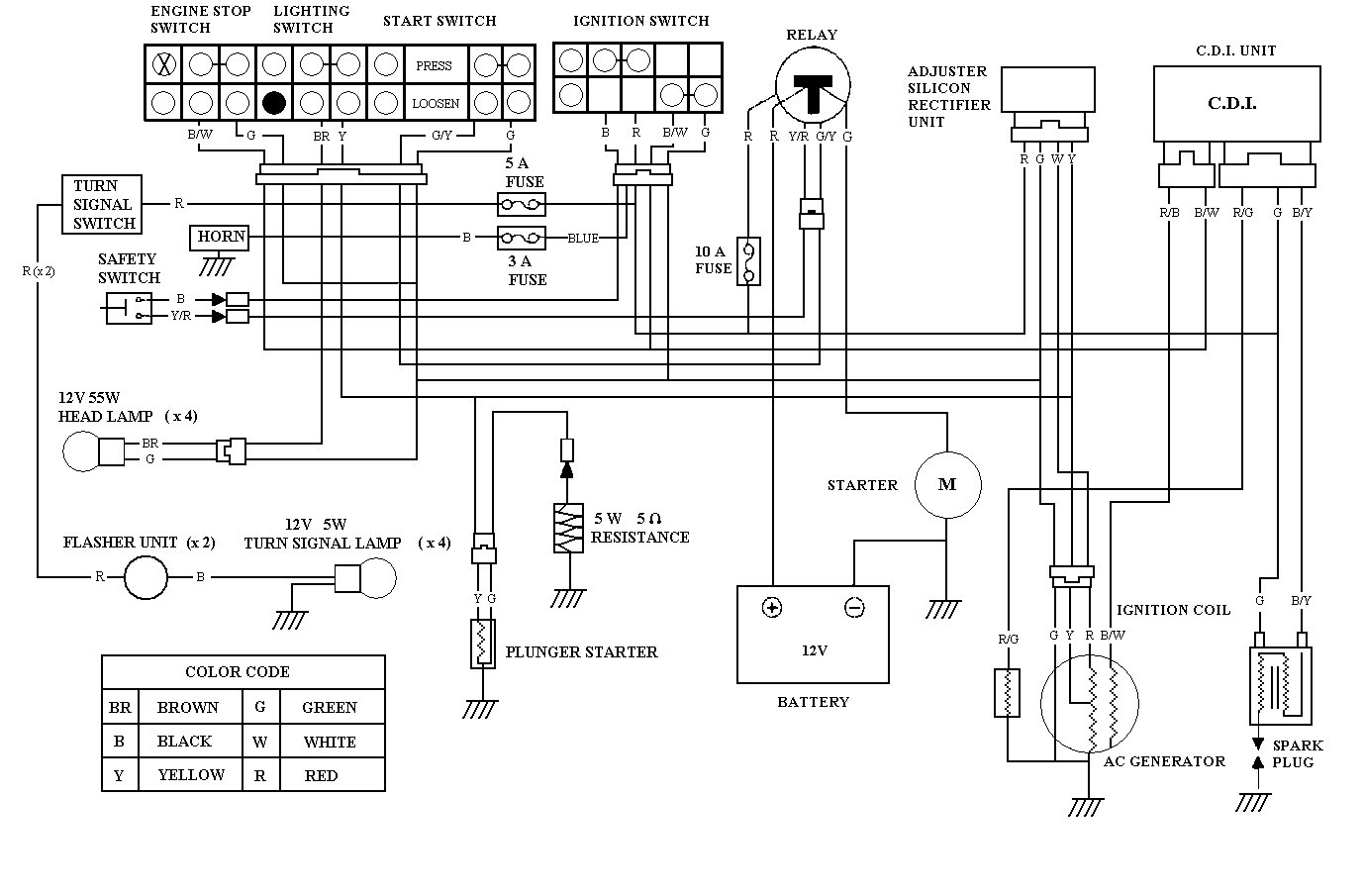 Baja Reaction 150 Wiring Diagram