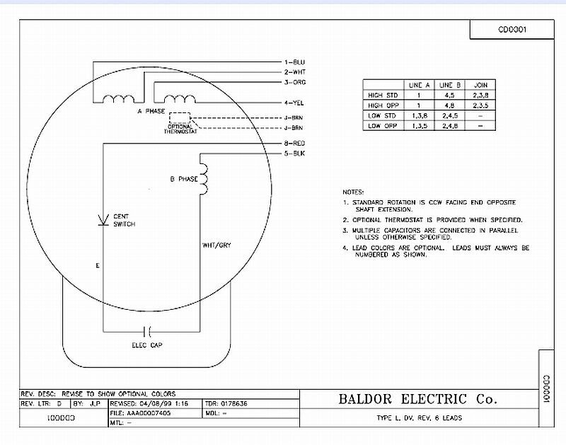 Baldor 1 5 Hp Wiring Diagram - Wiring Diagram Load on