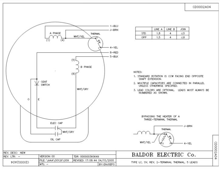 Baldor Farm Duty Motor Wiring Diagram