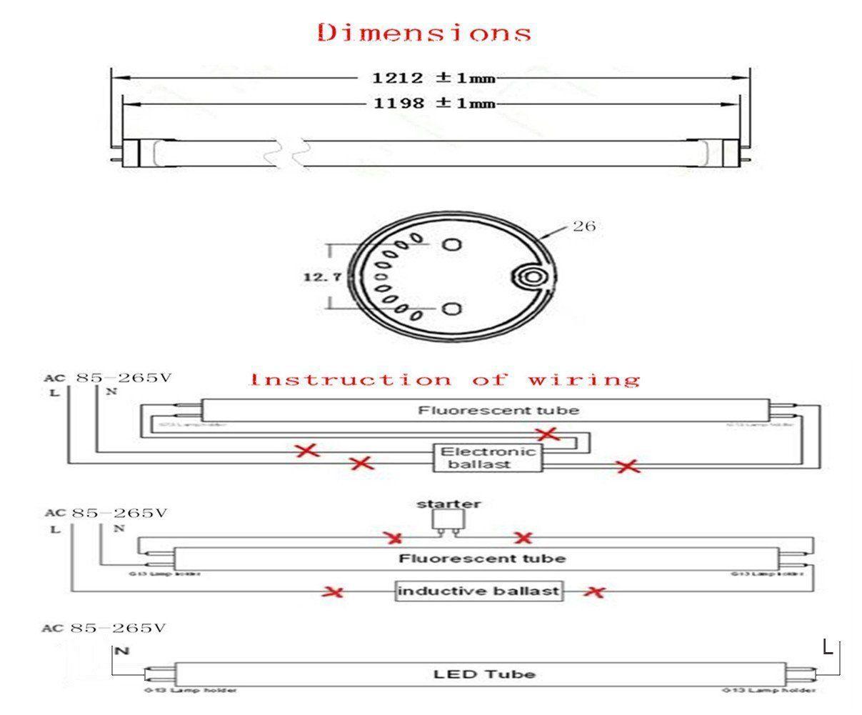 Fluorescent Fixtures T5 Circuit Diagram