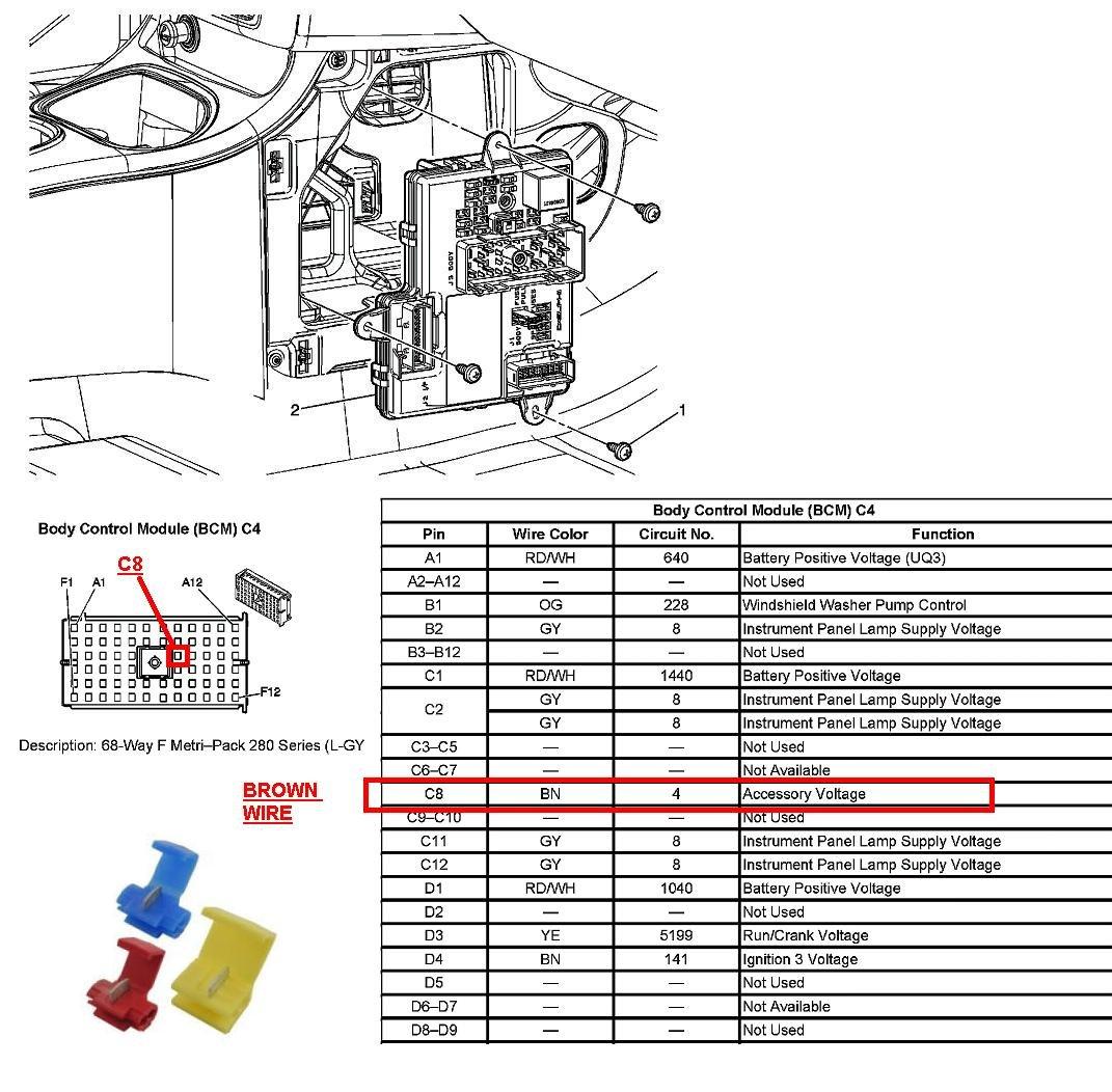 Bcm Chevy Cobalt Location Wiring Diagram