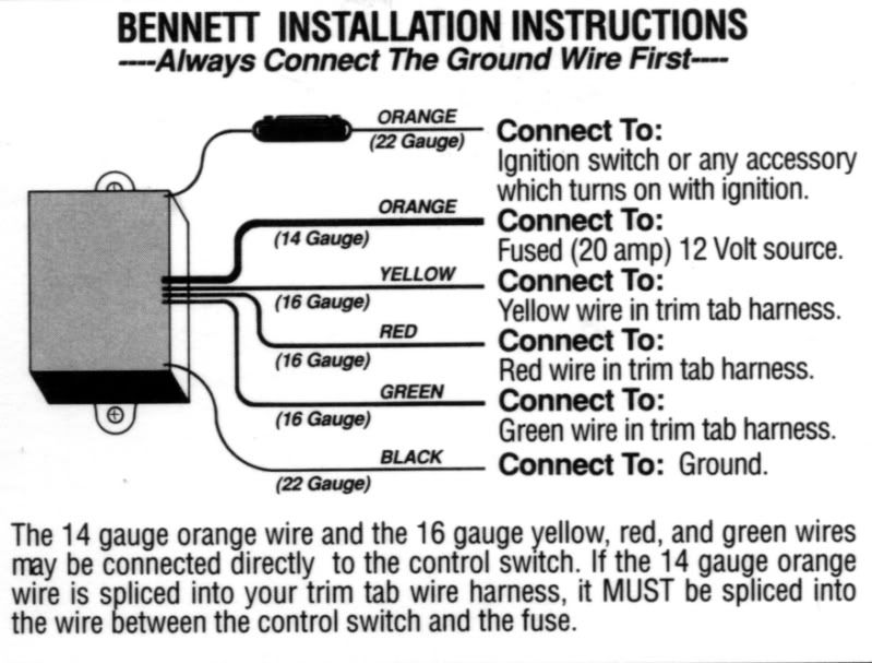 32 Bennett Trim Tab Wiring Diagram