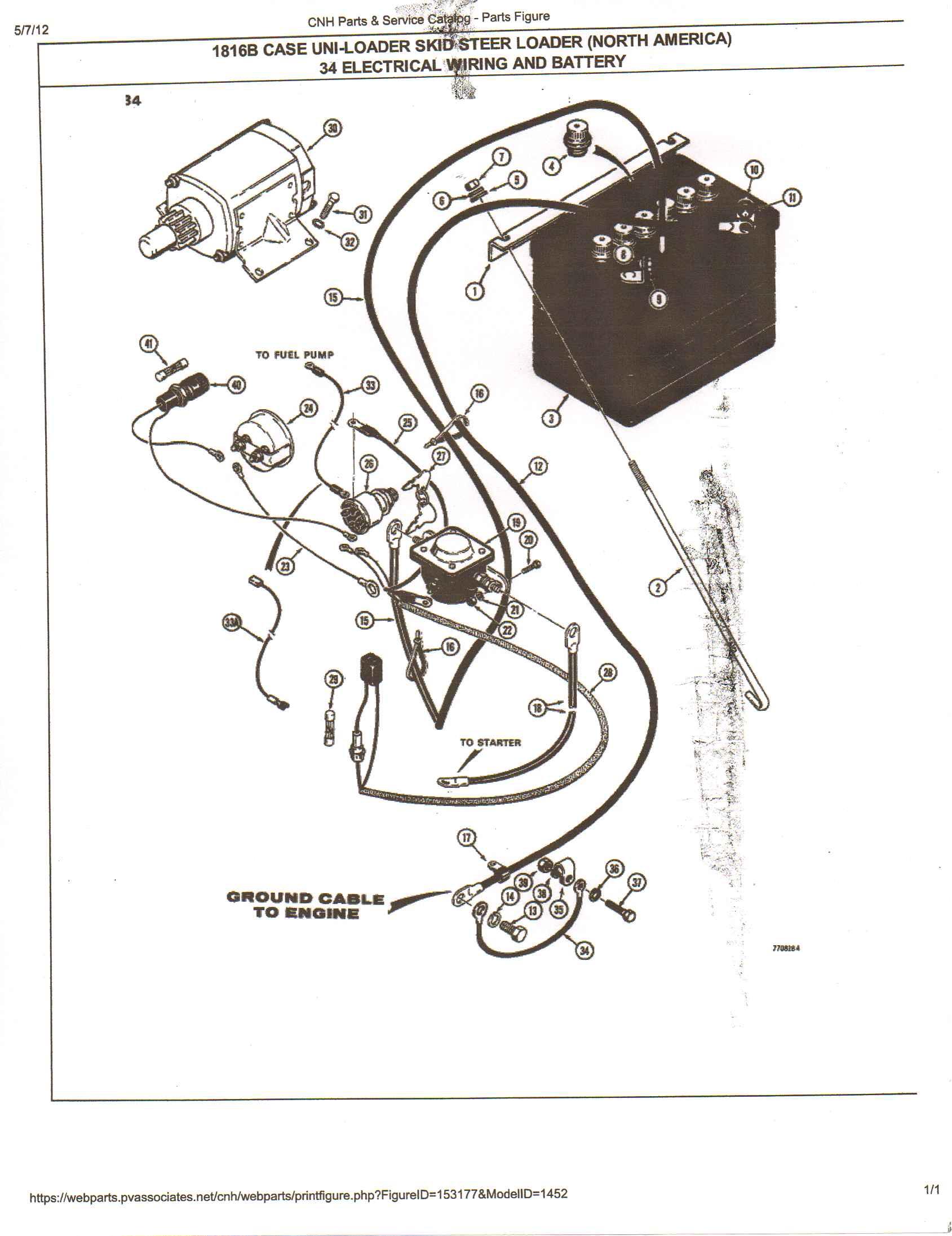Bobcat 425 Excavator Fuel Solenoid Wiring Diagram