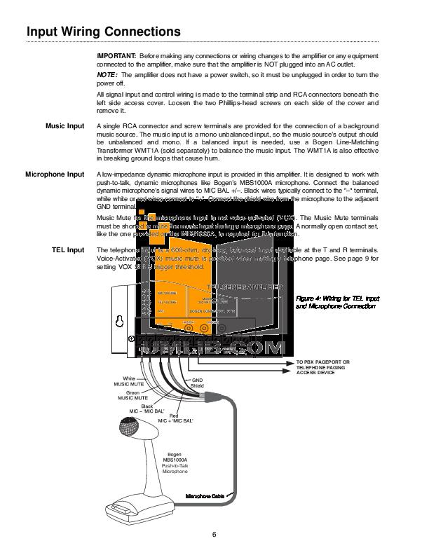 Bogen Microphone C60 Wiring Diagram