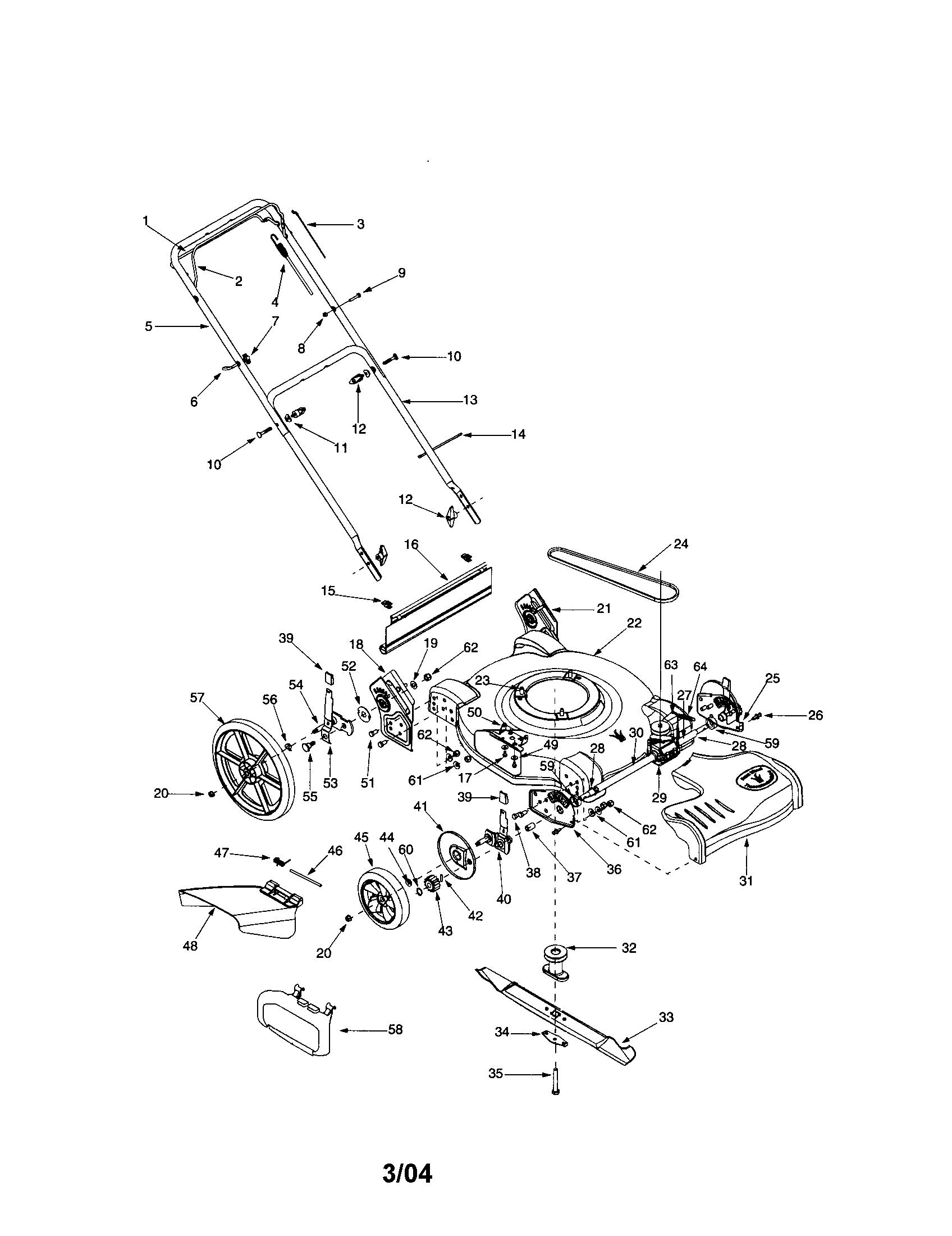 bolens lawn mower parts diagram model 13am762f765 Craftsman Lawn Mower 917 Manual