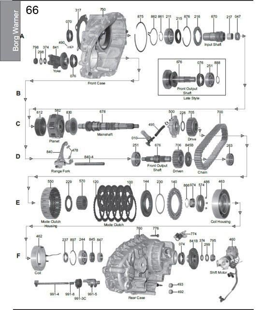 Borg Warner 4406 Transfer Case Diagram