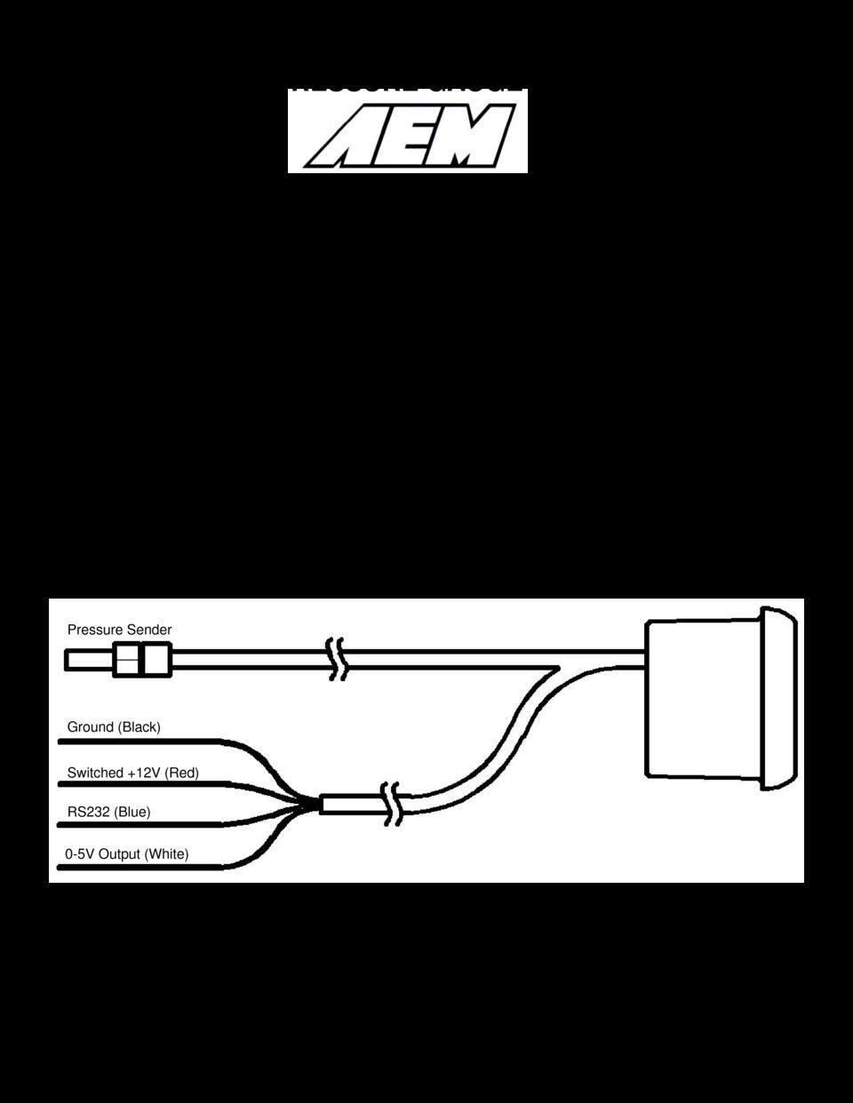 Calibre Digital Boost Gauge Wiring Diagram
