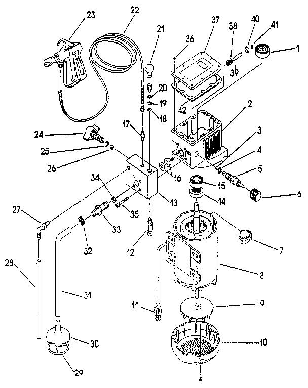Campbell Hausfeld Airless Paint Sprayer Parts Diagram