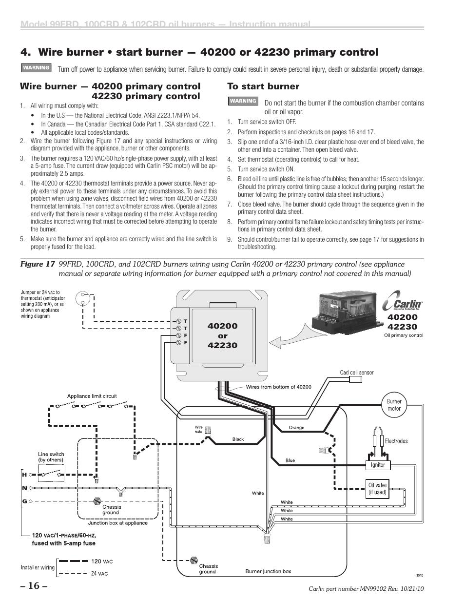 Carlin 60200 Wiring Diagram