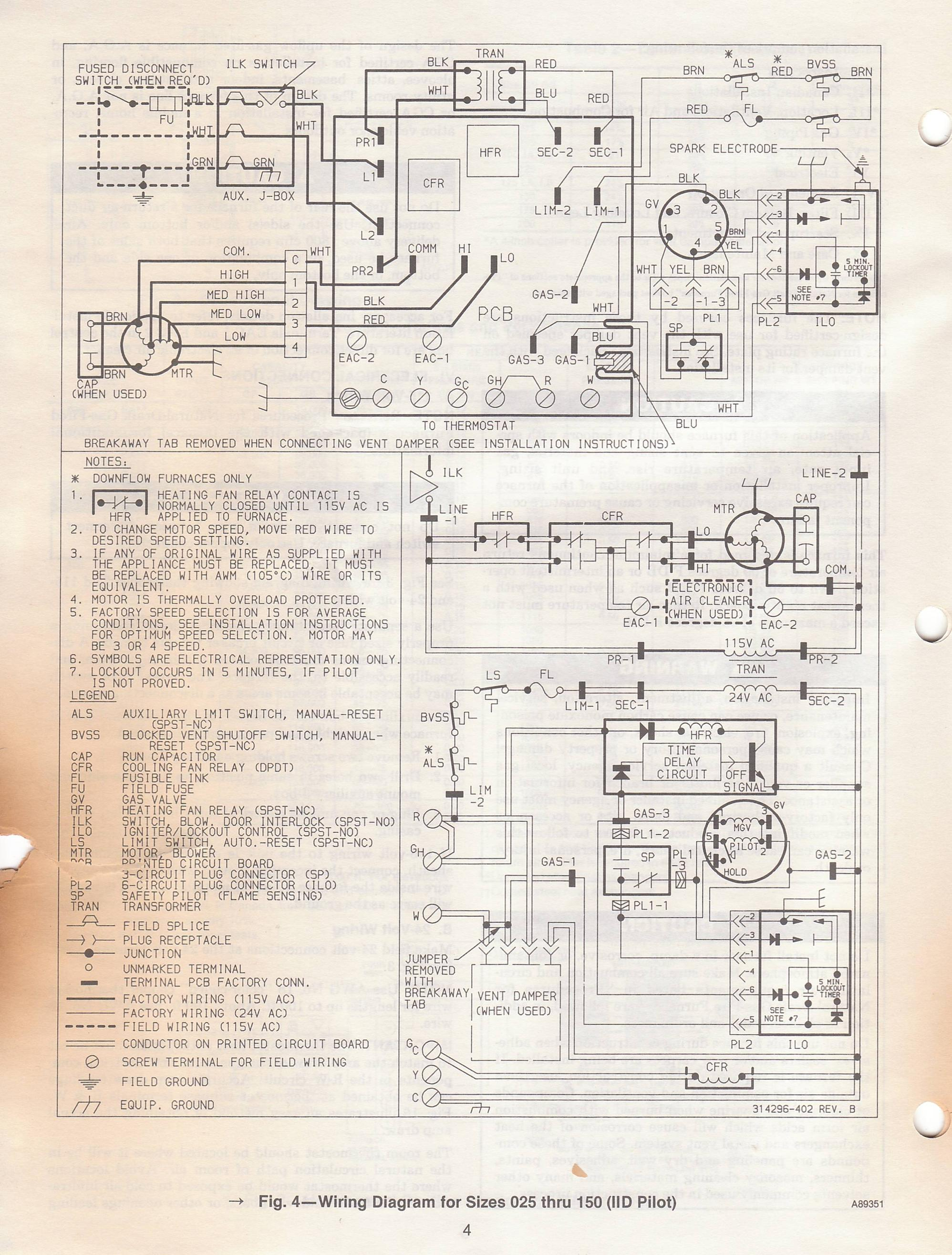 Electric Furnace Parts Diagram On Evcon Gas Furnace Wiring Diagrams