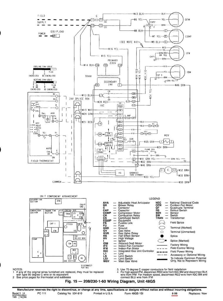 Rooftop Unit Schematic | Wiring Diagram on