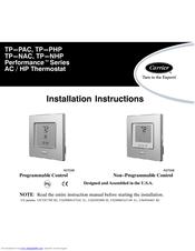 Carrier TP -PRH Manuals