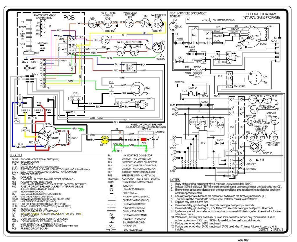 Carrier Weathermaker 9200 Wiring Diagram
