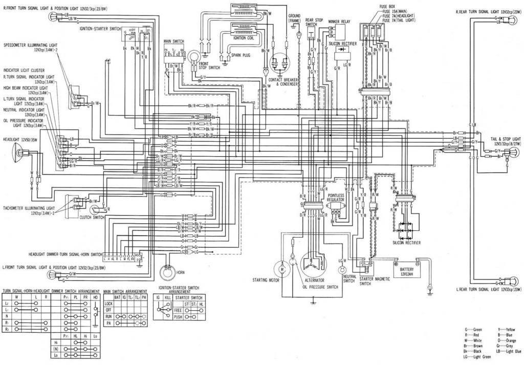 Cb750k Wiring Diagram on
