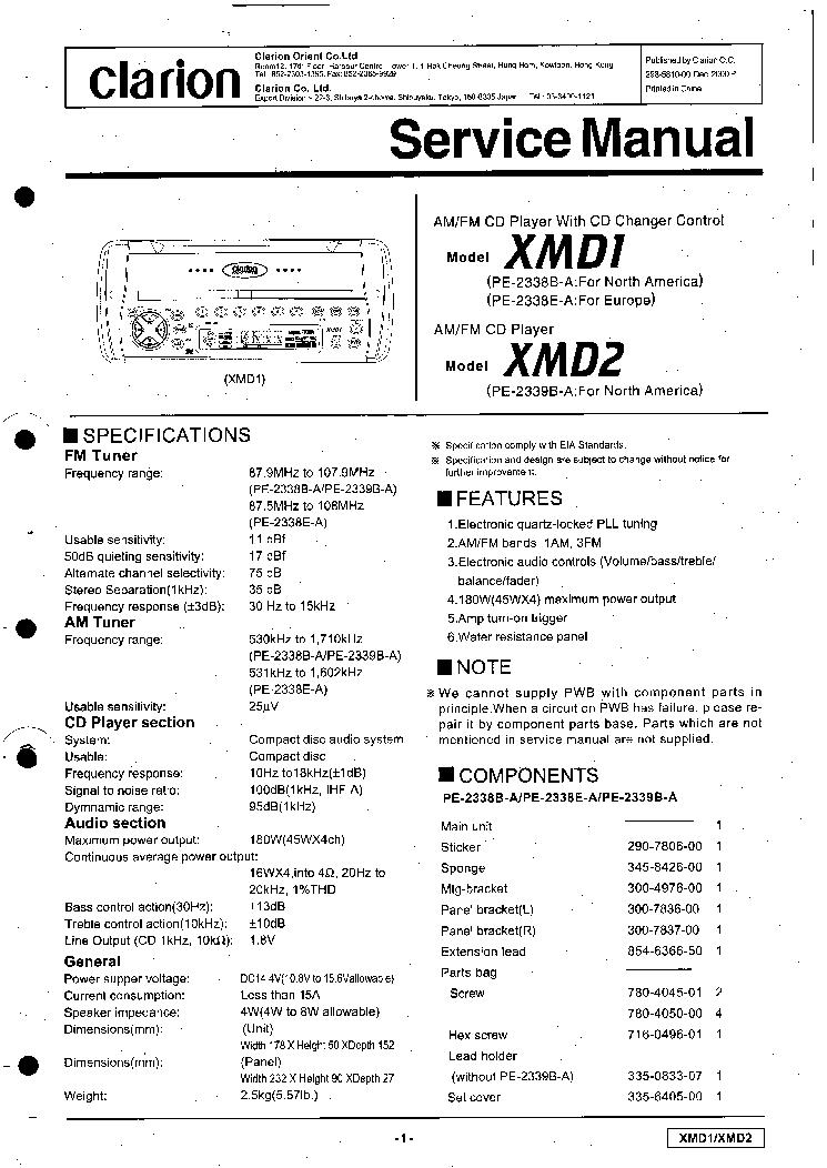 Clarion Dxz435 Wiring Diagram