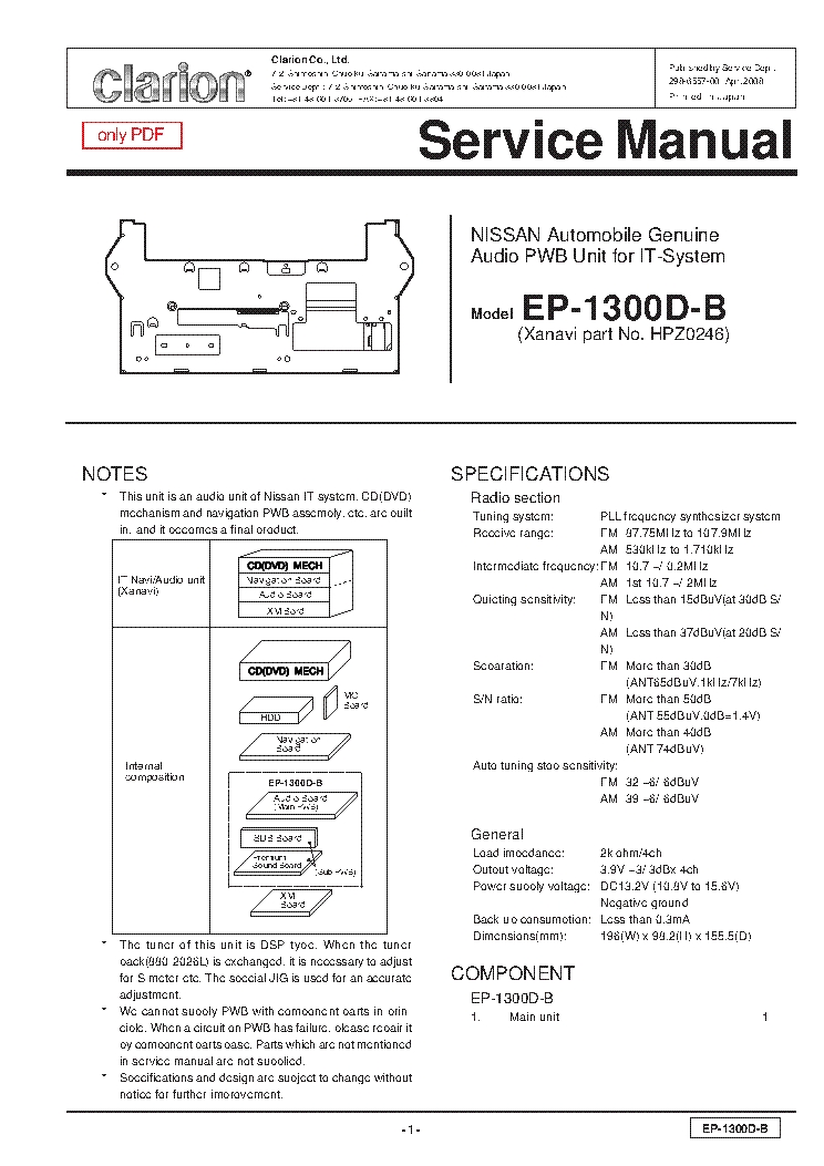 Clarion Dxz545mp Wiring Diagram